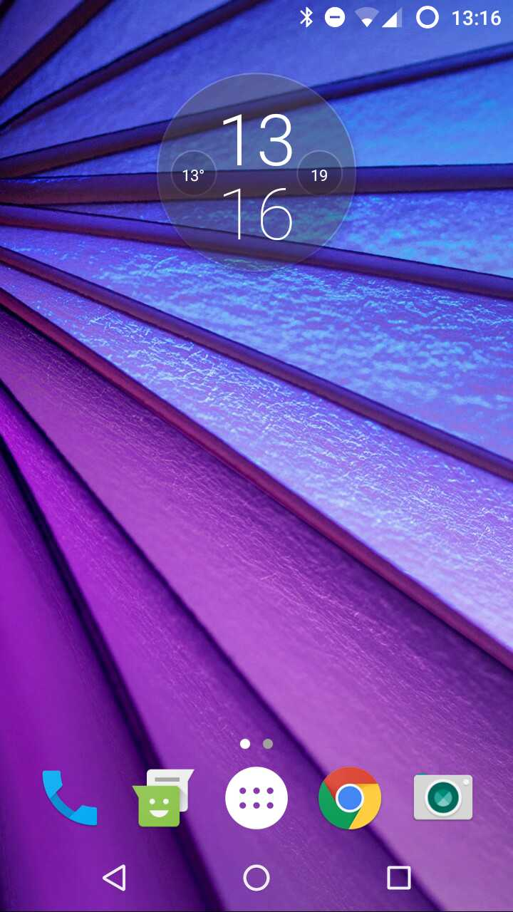 moto g4 plus time and weather widget