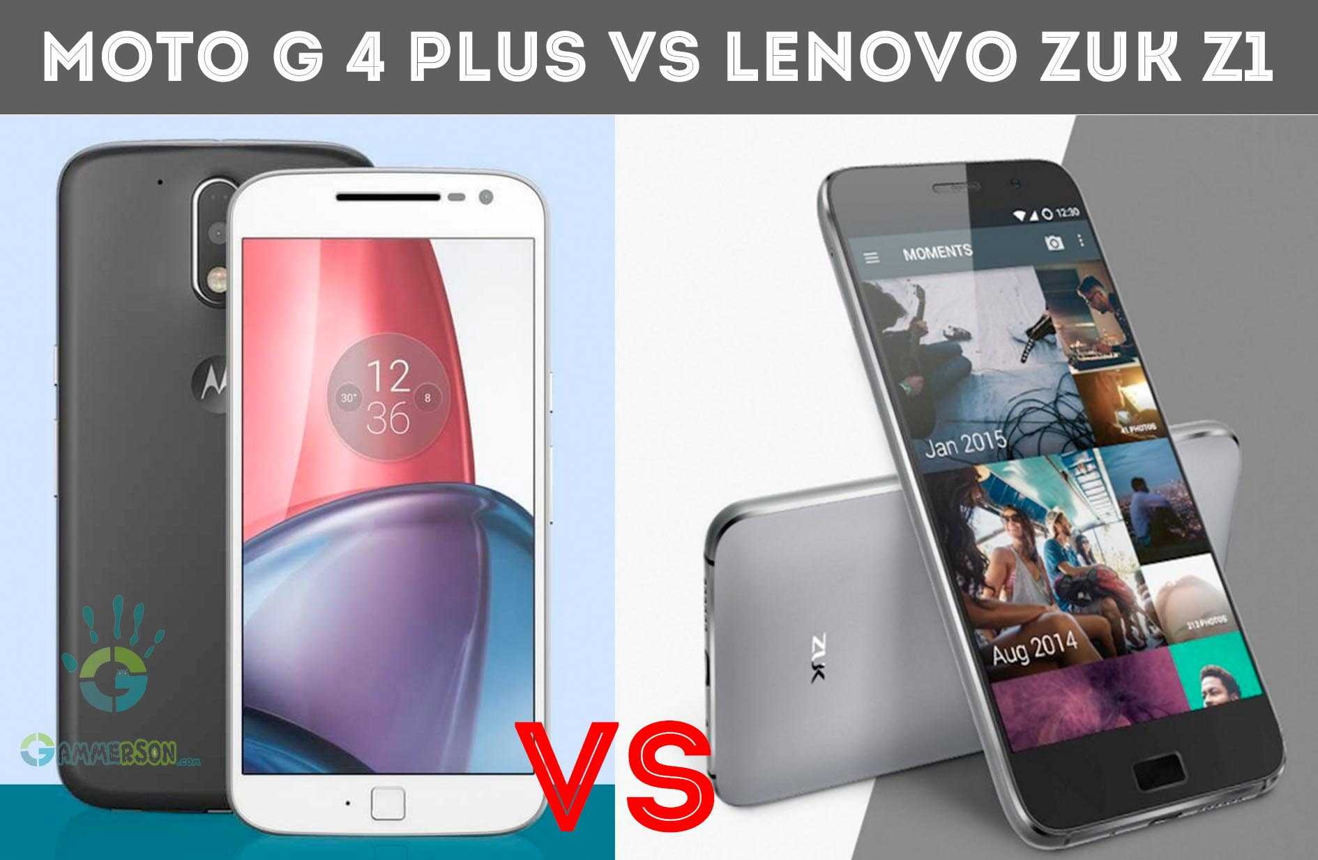 Moto G 4 plus vs Lenovo Zuk Z1