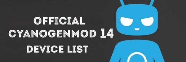 cm14 device list
