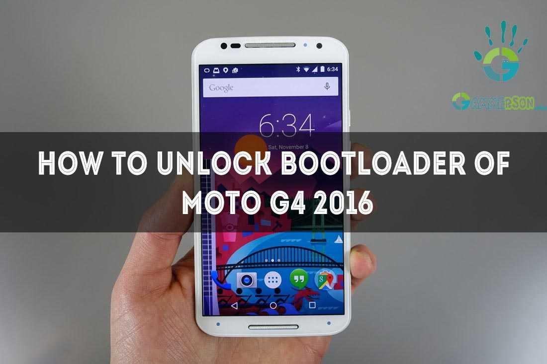 unlock bootloader of moto g 4 th gen2016