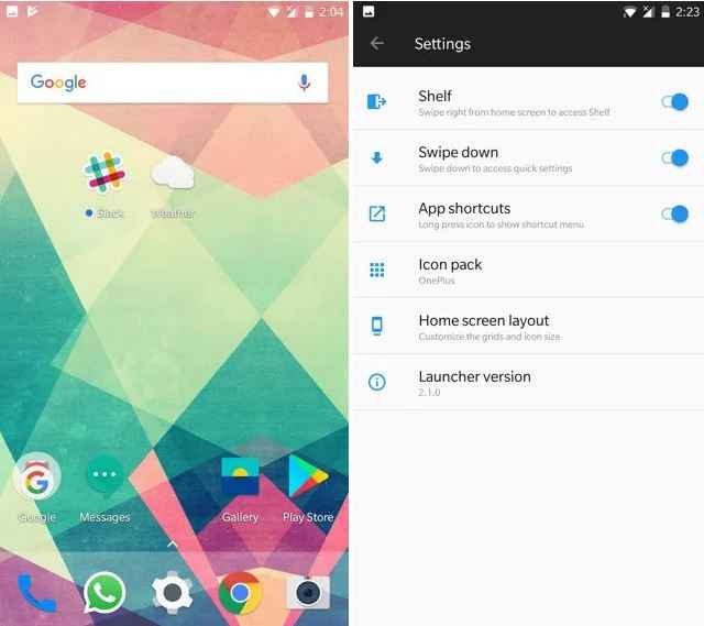 Download OnePlus Launcher 2 1 & Weather App From OxygenOS