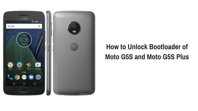 Unlock Bootloader of Moto G5s