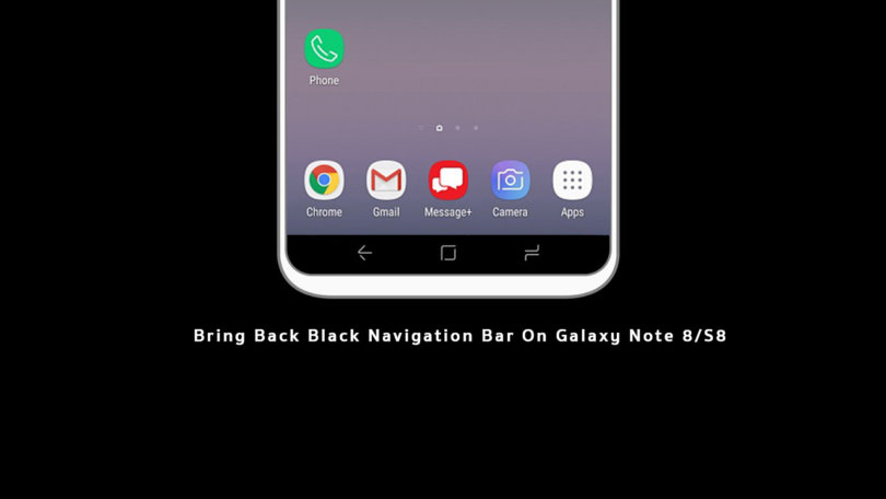 How To Bring Back Black Navigation Bar On Galaxy Note 8